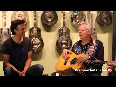 tommy - Article and photos: http://bit.ly/TommyEmmanuelRR Even at an ungodly hour, Tommy Emmanuel met with Premier Guitar where he revealed the gear behind his huge,...
