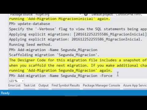 Haciendo y reversando migraciones | Entity Framework 6 | Programando en ASP.NET MVC 5