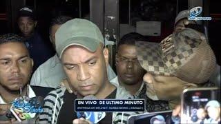 Momento en que Kanqui es entregado a la fiscalía de Santiago y ofrece sus declaraciones