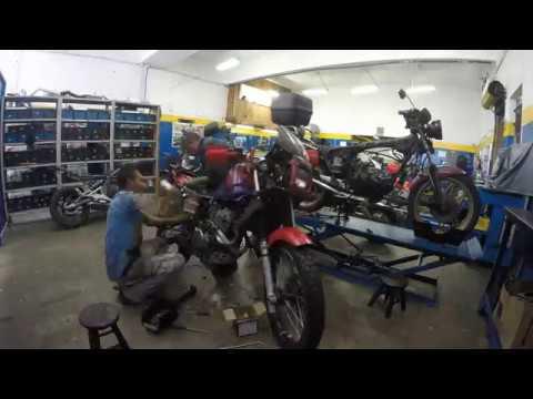 LR Motos - Processo de Manutenção da Honda NX Sahara 350 Vermelha - 7431