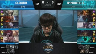 C9 VS IMT Game 1 Full Replay : https://www.youtube.com/watch?v=ErXDF3W0OiY