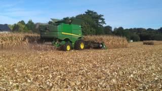 Video Chantier récolte de maïs grain avec JOHN DEERE S670 4x4 et cueilleur GERINGHOFF 10 rangs repliable MP3, 3GP, MP4, WEBM, AVI, FLV November 2017