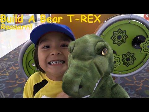 Dinosaur Toys: Build A Bear Workshop - A T-Rex Dinosaur Stuffed Toy Building w/ Hulyan