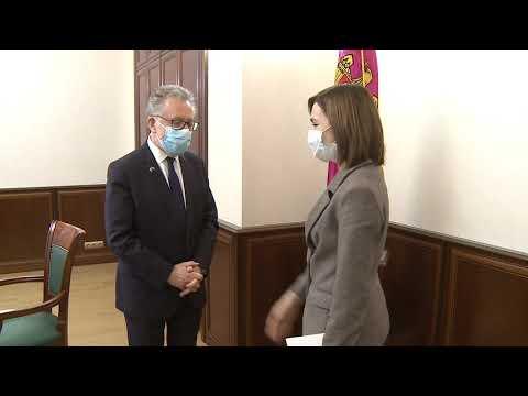 Președintele Republicii Moldova, Maia Sandu, a avut o întrevedere cu ES Pascal Le Deunff, Ambasadorul Republicii Franceze