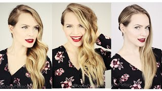 Holiday Hairstyle 3 Ways for Long or Short hair!