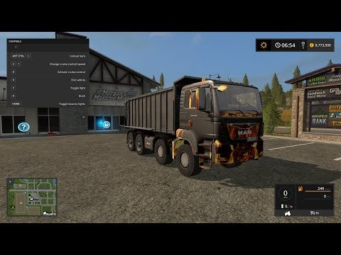 MAN TGS Tipper Fire v1.0