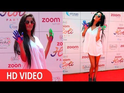 Poonam Pandey At Zoom Holi Party