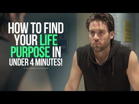 Find Your Life Purpose In Under 4 Minutes - MUST LISTEN Motivational Speech