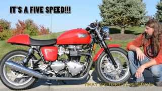 4. Triumph Thruxton cafe racer ride and review