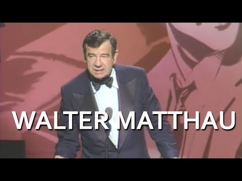 Lemmon - Walter Mathau at the 1988 AFI Life Achievement Award: A Tribute To Jack Lemmon. CONNECT WITH AFI: http://facebook.com/AmericanFilmInstitute http://twitter.co...