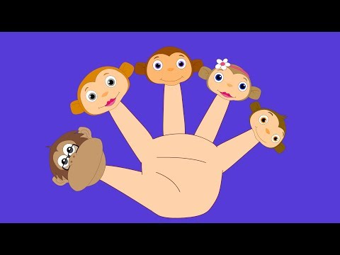 Five Little Monkeys Jumping on the Bed Nursery Rhyme Cartoon Rhymes Songs Poems for Children