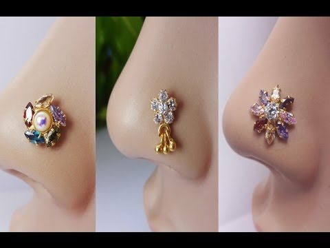 LATEST DIAMOND NOSE STUD COLLECTION, DIAMOND JEWELLERY