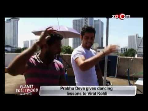 Prabhu Deva gives dancing lessons to Virat Kohli