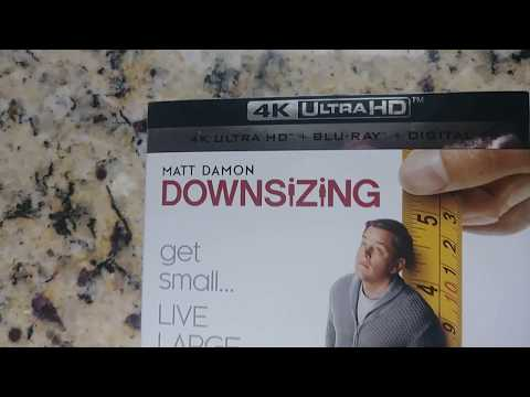 Unboxing Video For Downsizing 4k Blu Ray Digital Set