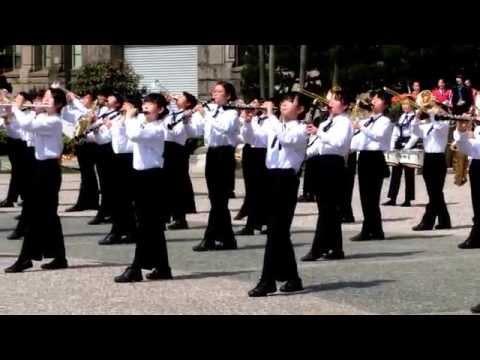 京都さくらパレード2015 大津市立瀬田北中学校吹奏楽部