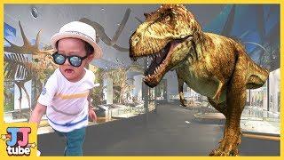 쥬라기 공룡 박물관 공룡들이 살아났어요! 안면도 공룡 테마파크 티라노 사우르스 장난감 놀이 Jurassic Dinosaur Museum Park [제이제이 튜브-JJ tube]