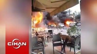Erbil'deki patlamadan hemen sonra çekilen görüntüler
