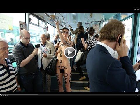 身材超正的前衛藝術家「裸體走在大街上」任由別人拍攝,目的就是為了顛覆社會的刻板印象!