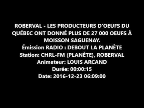 Don d'oeufs des producteurs du Saguenay-Lac-St-Jean
