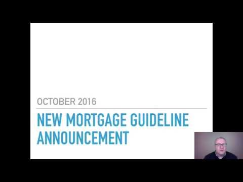 New Changes to Government Lending Guidelines for October 2016