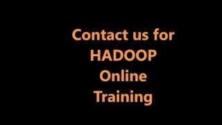 Hadoop Tutorial&Online Training