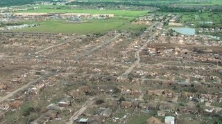 Moore (OK) United States  city pictures gallery : Aerial View Of EF5 Tornado's Path - Moore, OK 2013