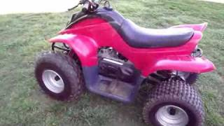 4. Dinli 90cc Youth Four Wheeler ATV Like Polaris Predator 90