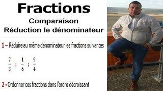 Maths 6ème - Fractions comparaison et réduction le dénominateur Exercice 8