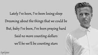 Video OneRepublic - Counting Stars (Lyrics) MP3, 3GP, MP4, WEBM, AVI, FLV Maret 2018