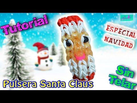 ♥ Tutorial[ESPECIAL NAVIDAD]: Pulsera Santa Claus (sin telar) ♥