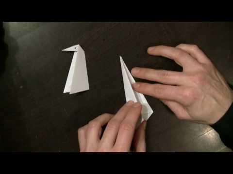 Origami Anleitung - Pinguin
