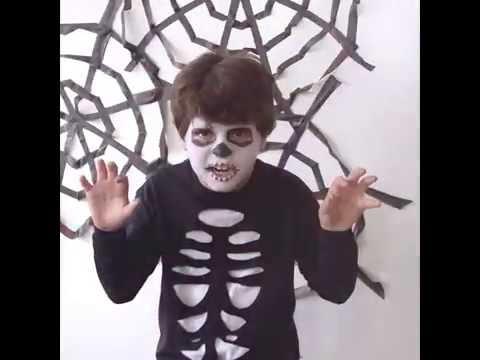 Déguisement facile pour Halloween : Petit squelette
