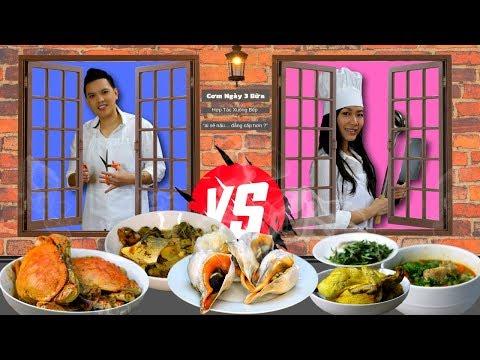 2 Vợ Chồng Tôi Hợp Tác Xuống Bếp (Cơm ngày 3 bữa của gia đình vừa vừa) - Thời lượng: 49 phút.