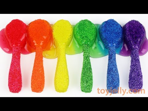 Video Making Slime Color Spoons with Kinetic Foam Clay DIY How To Make Fun for Kids download in MP3, 3GP, MP4, WEBM, AVI, FLV January 2017