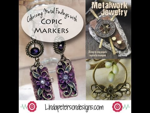 Coloring Metal for Jewelry Makers using Markers by Linda Peterson