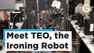 TEO's algorithm plots an efficient path for a standard clothes iron to follow in order to smooth them all out. That data is then passed onto the rest of TEO's sub-systems responsible for controlling the robot, allowing it to pick up the iron and make the necessary movements to eradicate wrinkles.Subscribe to Gizmodo: https://goo.gl/YTRLAE Visit us at: http://www.gizmodo.com/Like us at: https://www.facebook.com/gizmodoFollow us at: https://twitter.com/gizmodoView us: https://www.instagram.com/gizmodo/ Watch more from Fusion friends:Fusion: http://fus.in/subscribeF-Comedy: https://goo.gl/Q27Mf7Fusion TV: https://goo.gl/1IbZ1BKotaku: https://goo.gl/OcnXv7Deadspin:  https://goo.gl/An7N8gJezebel:  https://goo.gl/XNsnCJLifehacker:  https://goo.gl/3rNmzwIo9:  https://goo.gl/ismnzPJalopnik:  https://goo.gl/u7sDEkSploid:  https://goo.gl/4yq2UYThe Root: https://goo.gl/QMOjBE