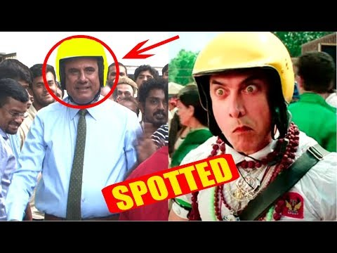 Boman Irani Spotted  In Aamir Khan's PK Look