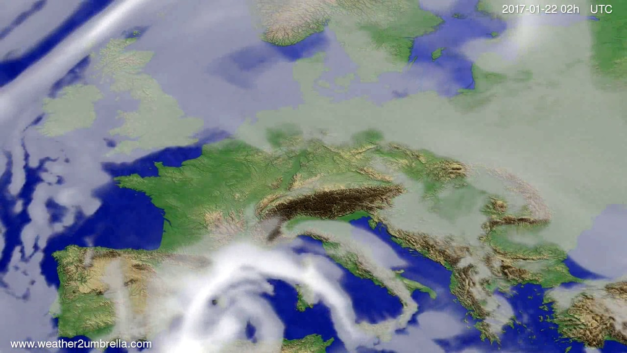 Cloud forecast Europe 2017-01-18