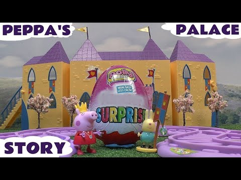 surprise - Peppa Pig's Palace has a Giant Kinder Surprise Egg in it with a My Little Pony Train Ride around it. Peppa and her friends visit the Palace to see the Polly ...