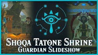 Zelda Breath of the Wild • Guardian Slideshow • Shoqa Tatone Shrine • Lake