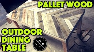 How To Build An Outdoor Dining Table From Pallet Wood DIY   Crafted Workshop
