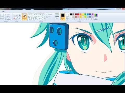 Video Drawing Anime Girl on MS Paint - Sinon Speedpaint download in MP3, 3GP, MP4, WEBM, AVI, FLV January 2017