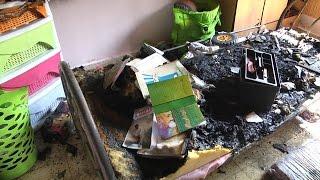 حريق بمنزل بضاحية شويكة نتيجة تماس كهربائي