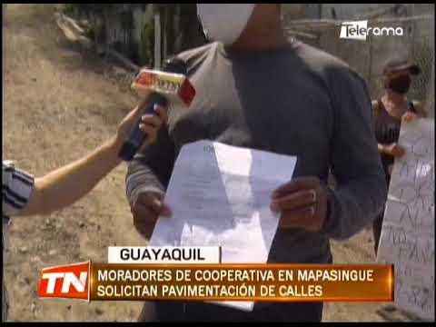 Moradores de cooperativa en Mapasingue solicitan pavimentación de calles