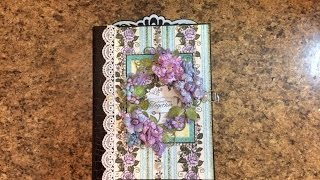 """Free step by step tutorial on how to make this 7 X 9 x 3.5"""" spine mini album using Heartfelt Creations Blushing Rose paper collection. For beginners or seaso..."""