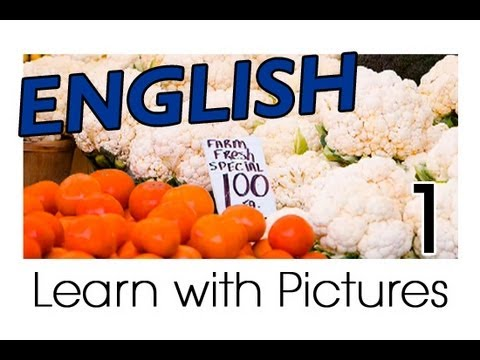 VEGETABLES - http://www.englishclass101.com/video Learn English with Pictures from EnglishClass101.com. Beautiful images clearly show English vocabulary divided by topic....