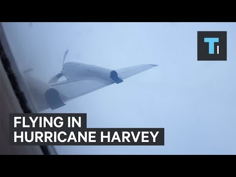 Flying a Plane Into Hurricane Harvey