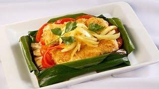 Món Ngon Mỗi Ngày - Cá chẽm nướng lá chuối