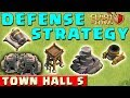 Clash of Clans - BEST DEFENSE STRATEGY - Townhall Level 5