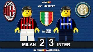 Milan - Inter 2-3 • Derby Milano Serie A 2019 (17/03/19) All Goal Highlights Sintesi Lego Football